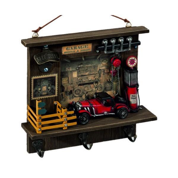 Διακοσμητική vintage κρεμάστρα - ανοιχτήρι συνεργείο, 29 x 8.5 x 33εκ