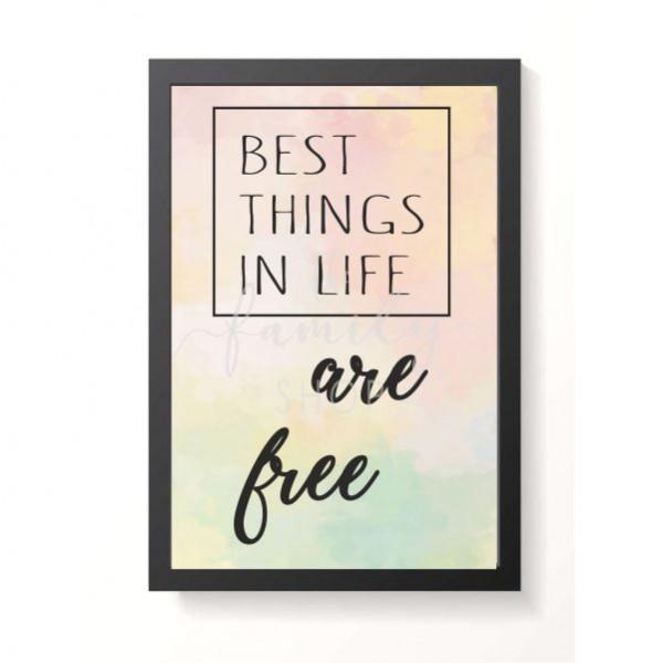Κάδρο ξύλινο πίνακας  BEST THINGS IN LIFE 26x38εκ