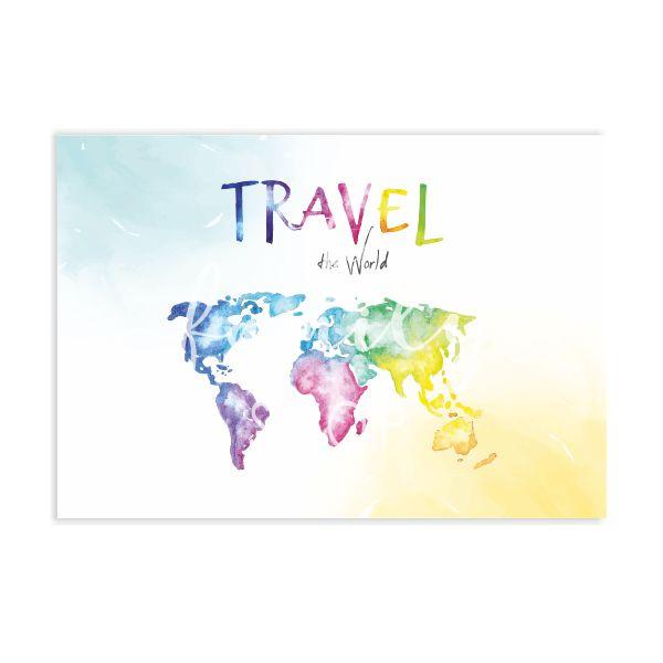 Αφίσα TRAVEL THE  WORLD, 30,5X43εκ