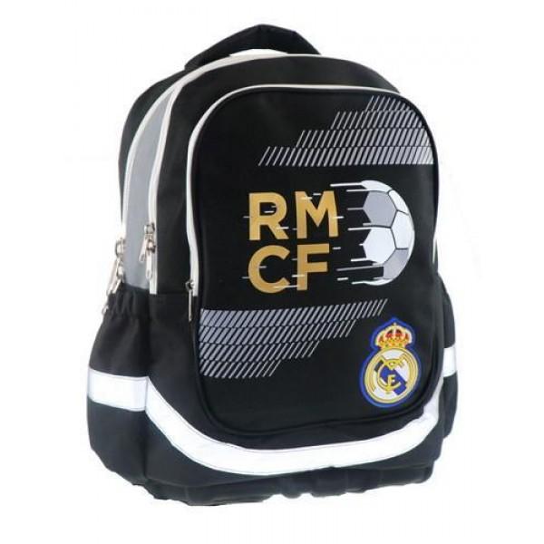 Τσάντα τρολλευ με 3 θήκες  ΔΙΑΚΑΚΗΣ  REAL MADRID 30x16x42cm