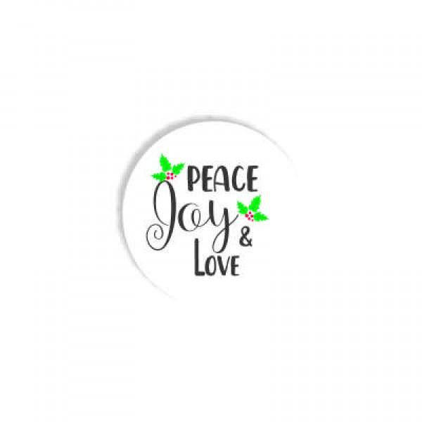 Aυτοκόλλητο PEACE JOY LOVE 4x4εκ