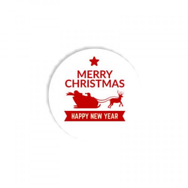 Aυτοκόλλητο HAPPY NEW YEAR  4x4εκ