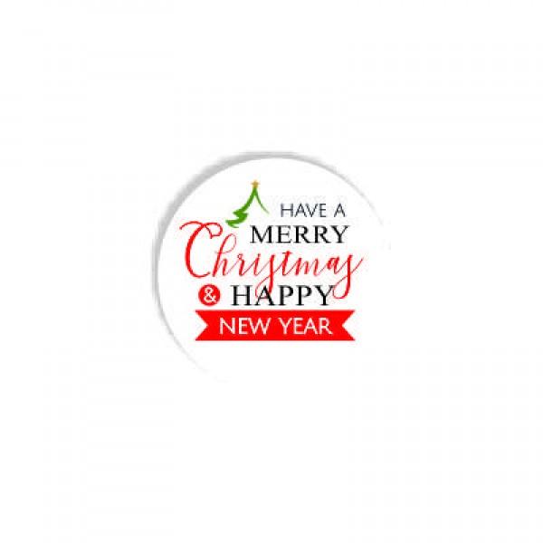 Aυτοκόλλητο MERRY CHRISTMAS 01  4x4εκ