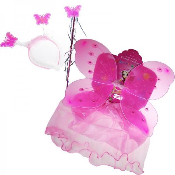 Στολή πεταλούδας ΡΟΖ, 3-6χρονών