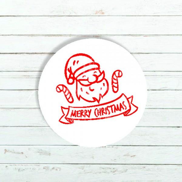 Ετικέτα χριστουγεννιάτικη ΑΪ ΒΑΣΙΛΗΣ  4x4cm