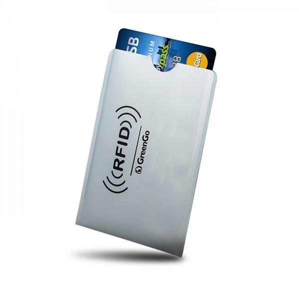 Θήκη Paypass προστασίας ασύρματης ανάγνωσης πιστωτικών καρτών,  6x8εκ