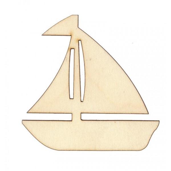 Καραβάκι ξύλινο  ιστιοφόρο 9.5x9.5εκ