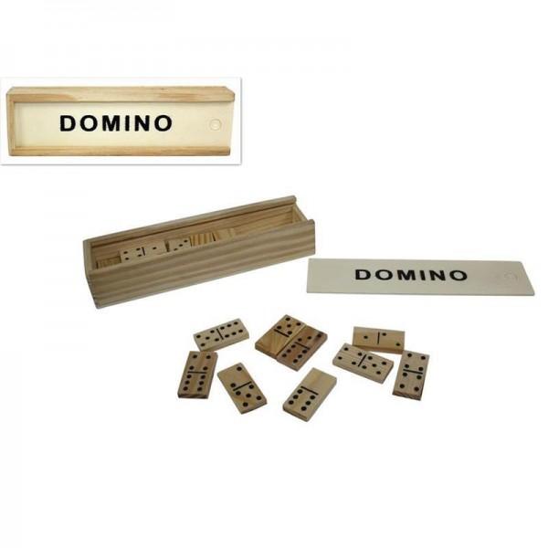 Nτόμινο 28τεμ. σε ξύλινη κασετίνα  15x4,5x2,5εκ.