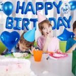 Μπαλόνια - Happy Birthday - σετ γενεθλίων  ΜΠΛΕ, 24τεμ