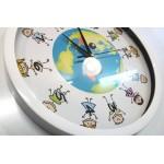 Ρολόι τοίχου 31εκ  διάμετρο, ΠΑΙΔΙΑ - ΓΗ