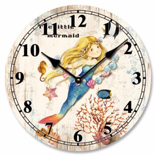 Ρολόι τοίχου, ξύλινο ΓΟΡΓΟΝΑ 1,  33εκ