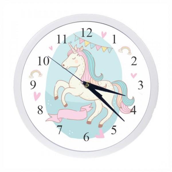 Ρολόι τοίχου με λευκό πλαίσιο και τζάμι, πλαστικό - γυαλί,  ΜΟΝΟΚΕΡΟΣ 24,5εκ
