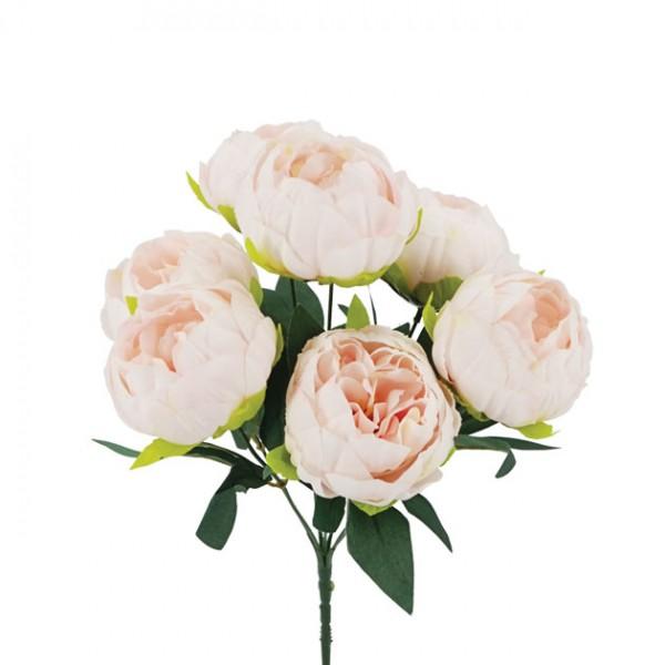 Λουλούδια μπουκέτο   ΡΟΖ  23x28εκ