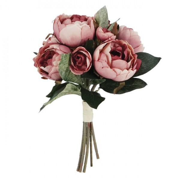 Λουλούδια μπουκέτο  παιώνια ΣΑΠΙΟ ΜΗΛΟ 32Χ27εκ
