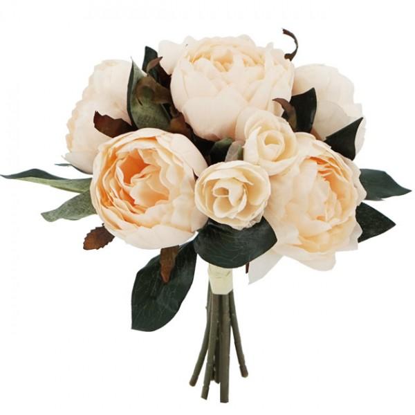 Λουλούδια μπουκέτο  παιώνια ΣΟΜΟΝ 32Χ27εκ