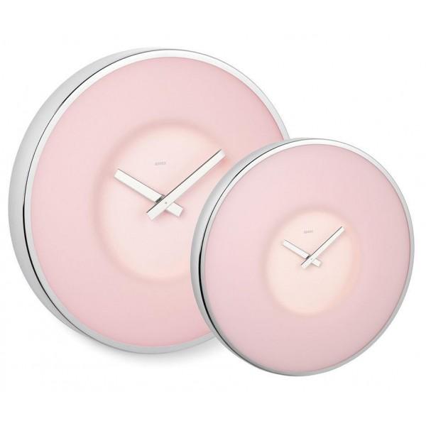 Ρολόϊ τοίχου γυάλινο ροζ 30εκ