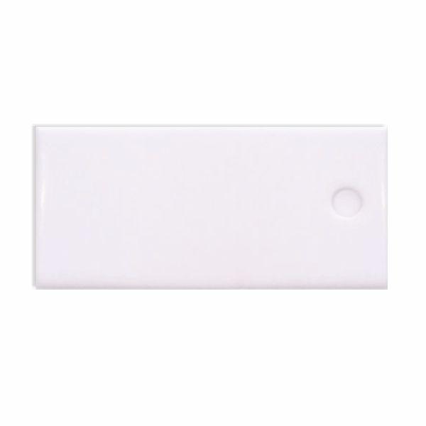Καρτελάκι χάρτινο λευκό με τρύπα, 6x3εκ