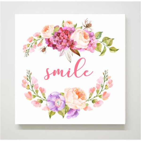 Πίνακας σε καμβά SMILE 15x15εκ